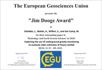 Jim Dooge Award 2018