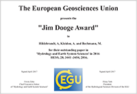 Jim Dooge Award 2016
