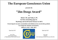 Jim Dooge Award 2017
