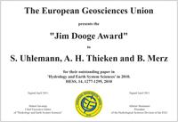 Jim Dooge Award 2010