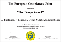 Jim Dooge Award 2012