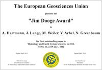 Jim Dooge Award 2012