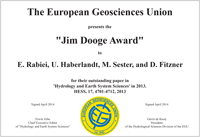 Jim Dooge Award 2013