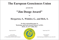 Jim Dooge Award 2014