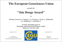 Jim Dooge Award 2015