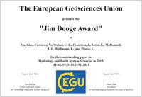 Jim Dooge Award 2015